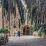 Abu Ghosh Crusaders church courtyard