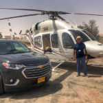 Helicopter flight in israel
