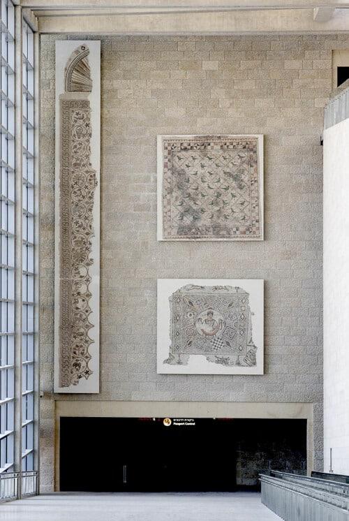 ben gurion airport mosaics