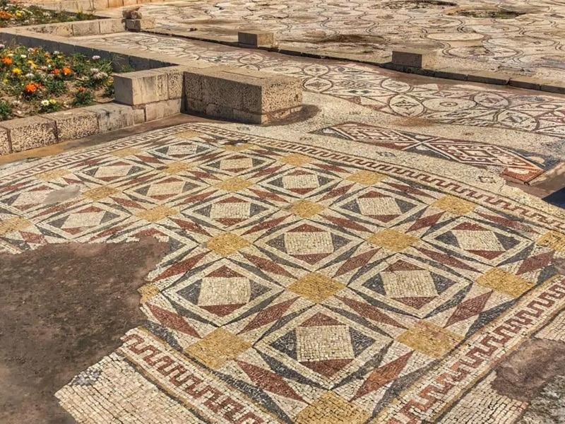 caesarea birds mosaic