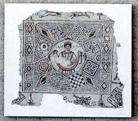 caesarea mosaic ben gurion