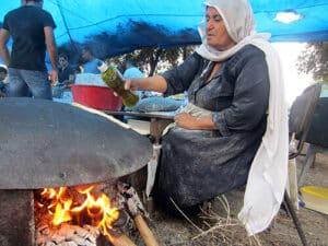 druze pita making