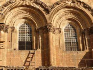 holy sepulchre ladder moved