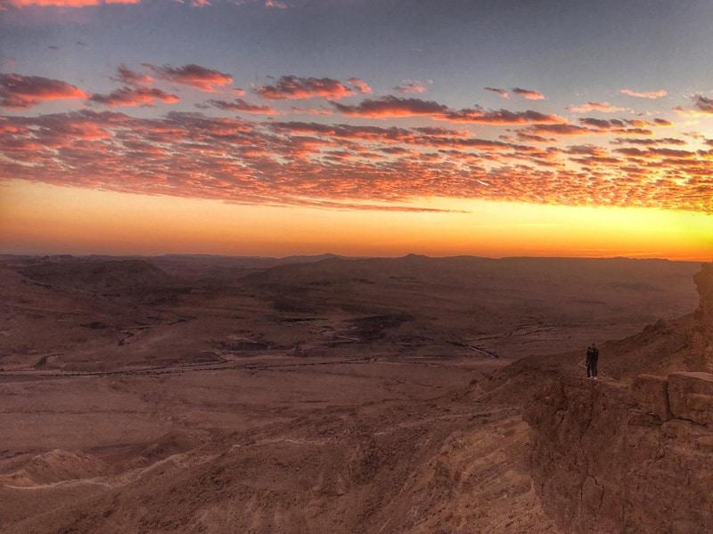 ramon crater sunset